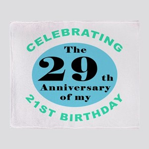 50th Birthday Humor Throw Blanket