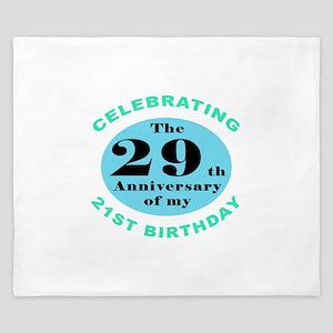 50th Birthday Humor King Duvet