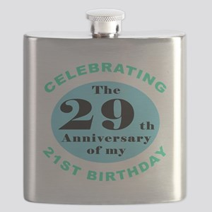 50th Birthday Humor Flask