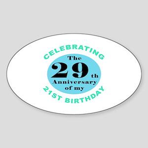 50th Birthday Humor Sticker (Oval)