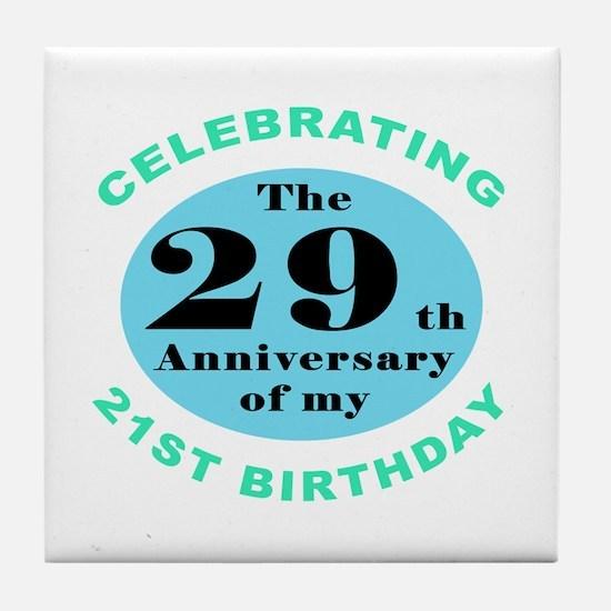 50th Birthday Humor Tile Coaster