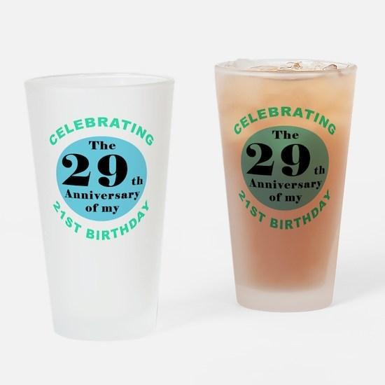 50th Birthday Humor Drinking Glass