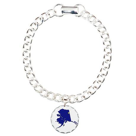Alaska Flag Charm Bracelet, One Charm