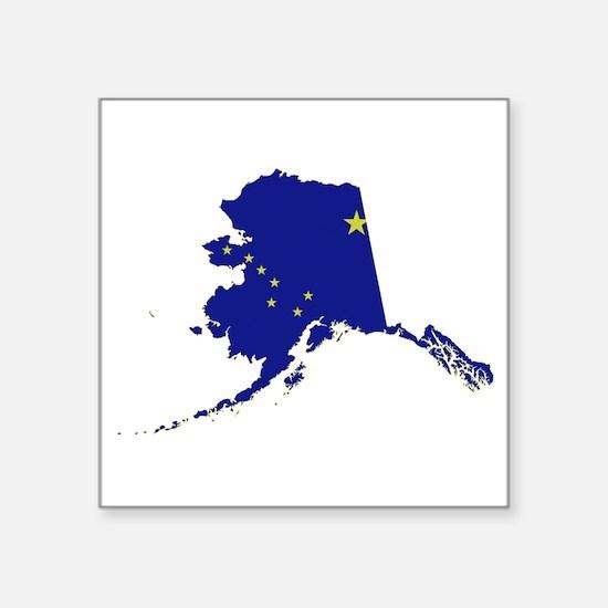 "Alaska Flag Square Sticker 3"" x 3"""
