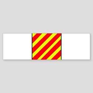 Nautical Flag Code Yankee Bumper Sticker
