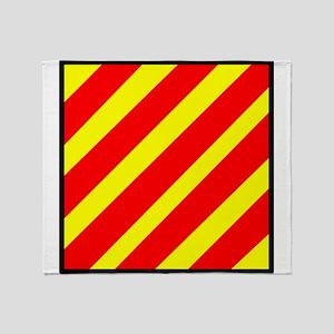 Nautical Flag Code Yankee Oscar Throw Blanket