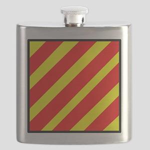Nautical Flag Code Yankee Flask