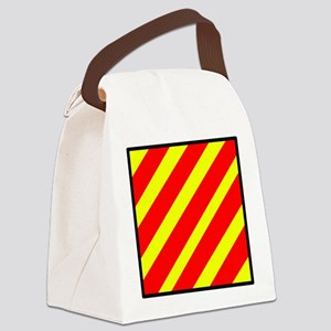Nautical Flag Code Yankee Canvas Lunch Bag