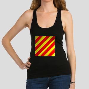 Nautical Flag Code Yankee Racerback Tank Top