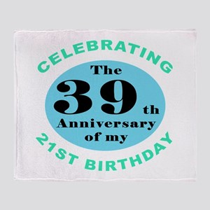 60th Birthday Humor Throw Blanket
