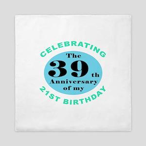 60th Birthday Humor Queen Duvet
