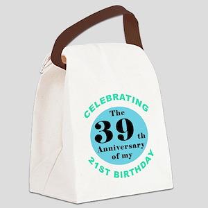 60th Birthday Humor Canvas Lunch Bag