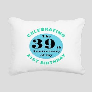 60th Birthday Humor Rectangular Canvas Pillow