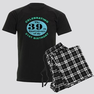 60th Birthday Humor Men's Dark Pajamas