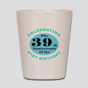 60th Birthday Humor Shot Glass