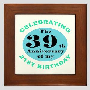 60th Birthday Humor Framed Tile