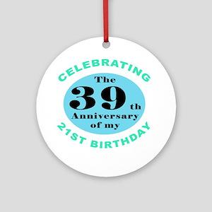 60th Birthday Humor Ornament (Round)