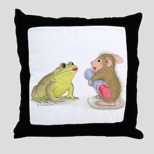 Kiss And Make Up Throw Pillow