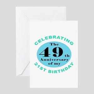 70th Birthday Humor Greeting Card