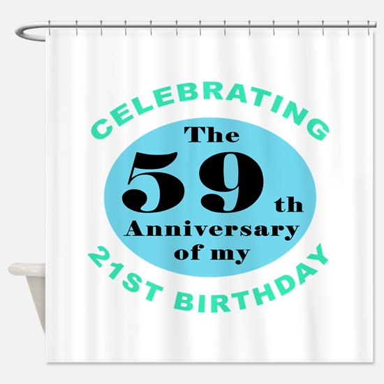 80th Birthday Humor Shower Curtain