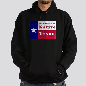 4th Generation Native Texan Flag Hoodie (dark)