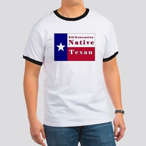 5th Generation Native Texan Flag Ringer T