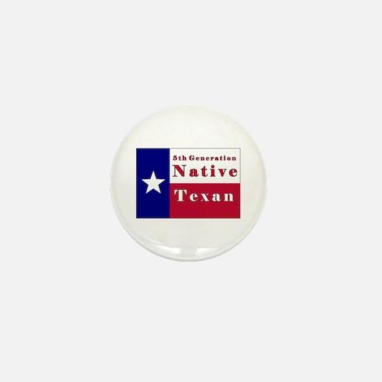 5th Generation Native Texan Flag Mini Button