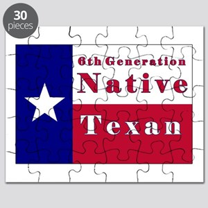 6th Generation Native Texan Flag Puzzle