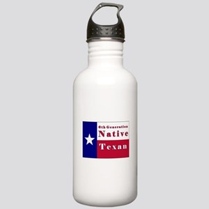 6th Generation Native Texan Flag Stainless Water B