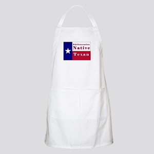 6th Generation Native Texan Flag Apron