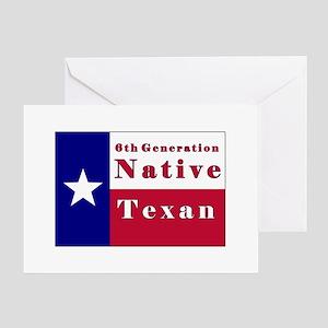 6th Generation Native Texan Flag Greeting Card