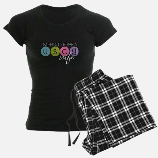 Proud to be a USCG Wife Pajamas