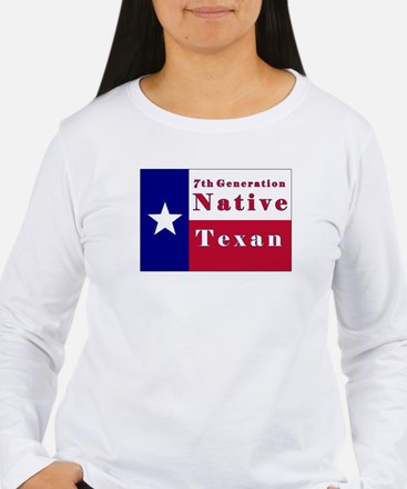 7th Generation Native Texan Flag T-Shirt