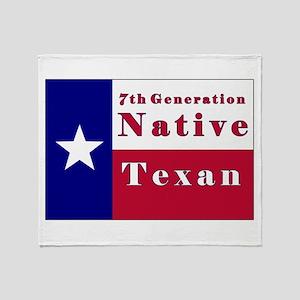 7th Generation Native Texan Flag Throw Blanket