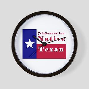 7th Generation Native Texan Flag Wall Clock