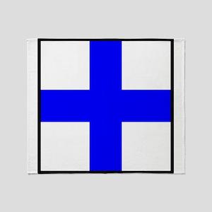 Nautical Flag Xray Throw Blanket