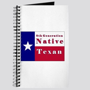 8th Generation Native Texan Flag Journal