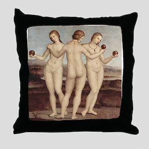 Raphael - The Three Graces - Throw Pillow