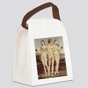 Raphael - The Three Graces - Canvas Lunch Bag
