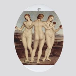 Raphael - The Three Graces - Ornament (Oval)