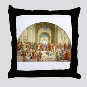 Raffaello School of Athens Throw Pillow