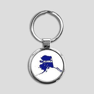 Alaska Flag Round Keychain