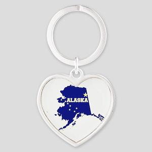 Alaska Flag Heart Keychain