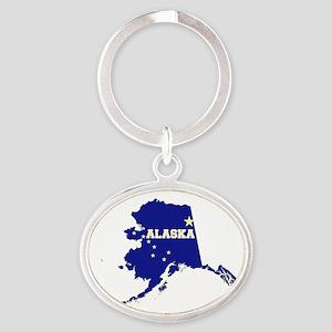 Alaska Flag Oval Keychain