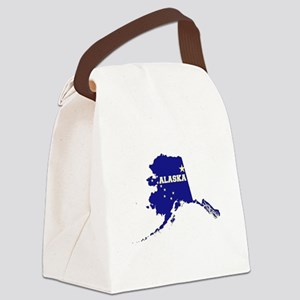 Alaska Flag Canvas Lunch Bag