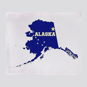 Alaska Flag Throw Blanket