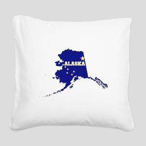 Alaska Flag Square Canvas Pillow
