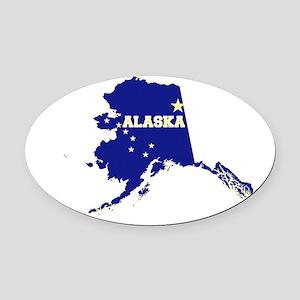 Alaska Flag Oval Car Magnet