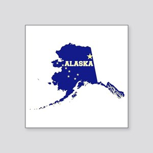 "Alaska Flag Square Sticker 3"" x 3"""