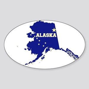 Alaska Flag Sticker (Oval)